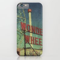 Wonder Wheel at Coney Island luna park, New York,  scaned sx-70 Polaroid iPhone 6 Slim Case