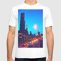 Blue Skies Mens Fitted Tee White SMALL
