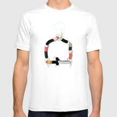 Home White Mens Fitted Tee SMALL