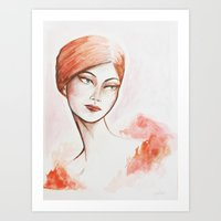 Take the night from me - fashion watercolour Art Print