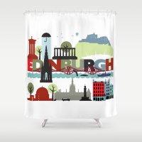 Edinburgh Landmarks & Mo… Shower Curtain