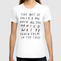 THE ART OF Womens Fitted Tee White SMALL