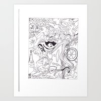 HIDDen PUSSYcatz Art Print