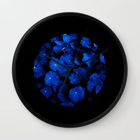 blue leafs XIV Wall Clock