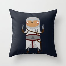 Assassin Sloth Throw Pillow