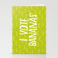 I Vote Bananas Stationery Cards