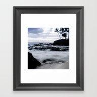 Paako Beach Sunset Blue … Framed Art Print
