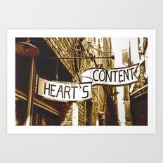 Content Heart Art Print