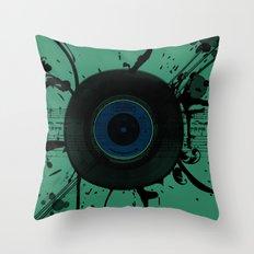 Vintage Vinyl Throw Pillow