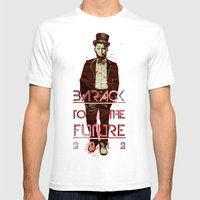 Barack To The Future Mens Fitted Tee White SMALL