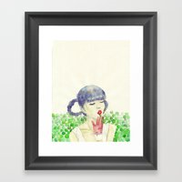 Pea Framed Art Print