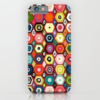 iPhone & iPod Case featuring hex diamond red by Sharon Turner