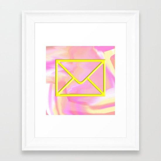 mail time Framed Art Print