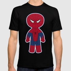 Chibi Spider-man Mens Fitted Tee Black SMALL