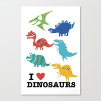 I love dinosaurs Canvas Print