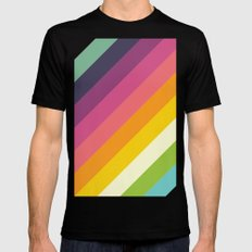 Retro Celebration SMALL Mens Fitted Tee Black