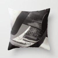 Droplets on Metal Throw Pillow