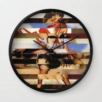 Glitch Pin-Up Redux: Dai… Wall Clock