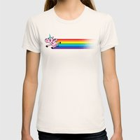 How Rainbows Are Made Womens Fitted Tee Natural SMALL