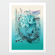 Subsea floral Art Print