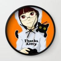 Thanks Kitty - I Like Ph… Wall Clock