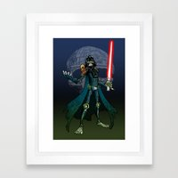Judge Darth (alt) Framed Art Print