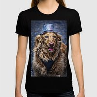 Party Dog Womens Fitted Tee Black SMALL
