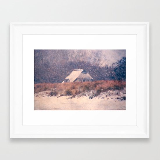 Snowhouse Framed Art Print
