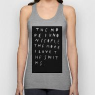 THE MORE I KNOW PEOPLE Unisex Tank Top
