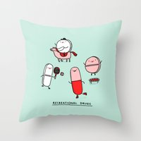 Recreational Drugs Throw Pillow