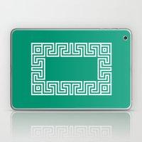 Greek Key emerald Laptop & iPad Skin
