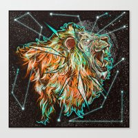 Space Lion  Canvas Print