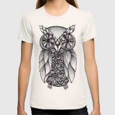 it's a hoot Womens Fitted Tee Natural SMALL