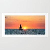 Sail Into The Sunset Art Print