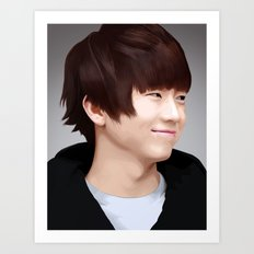 Wooyoung of 2PM Art Print