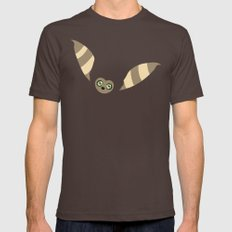 Curious Momo Mens Fitted Tee Brown SMALL