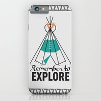 iPhone & iPod Case featuring Please Remember to Explore Dear by Casey Lynn Designs