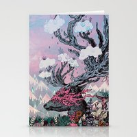 Journeying Spirit (deer) sunset Stationery Cards