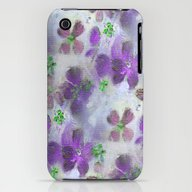 iPhone & iPod Case featuring Field Of Purple Flowers by RokinRonda