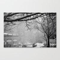 Winter Black and White Canvas Print