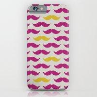 iPhone & iPod Case featuring Mustache pattern by Gal Ashkenazi