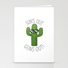 Sun's Out Guns Out! Stationery Cards