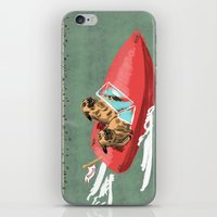 Two Pugs in a Speed Boat iPhone & iPod Skin