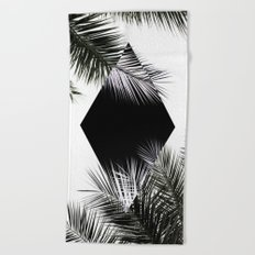 Palm Leaves 3 Geometry Beach Towel