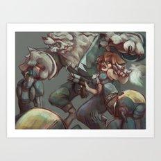 Digital painting - OC Art Print