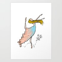 Dance Partners Art Print