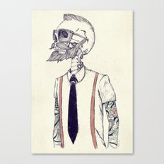 The Gentleman becomes a Hipster  Canvas Print