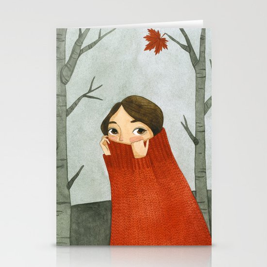 Winter Stationery Card