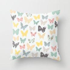 butterflies pattern Throw Pillow