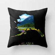 Alaska Outline - God's C… Throw Pillow